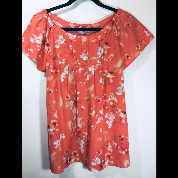 Fred David Tops - Fred David floral blouse Sz L